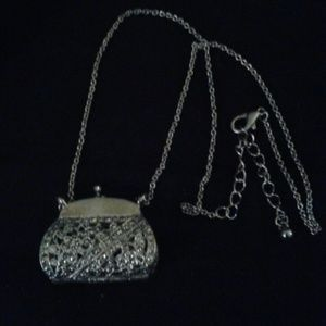 Jewelry - SALE! Sterling silver vintage purse necklace